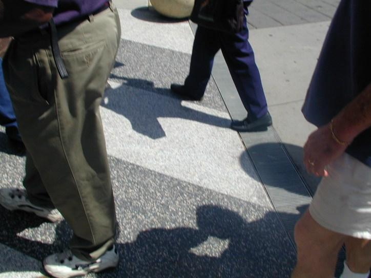 Feet of marchers