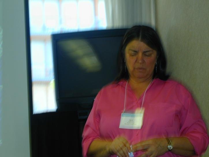 Presenter pauses before speaking
