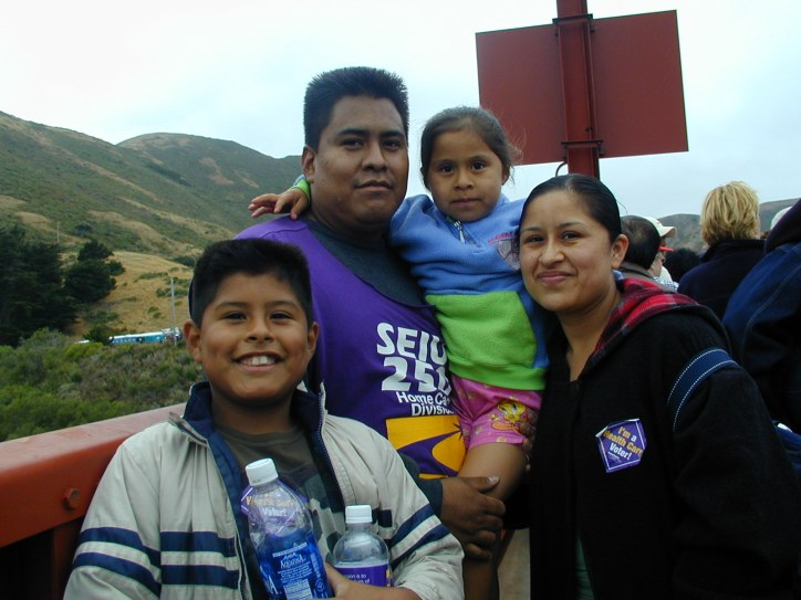 A family of marchers